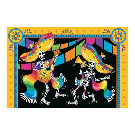 Diy Party Banner (Fun Express - Day Of The Dead Backdrop Banner for Halloween - Party Decor - Wall Decor - Preprinted Backdrops - Halloween - 3)