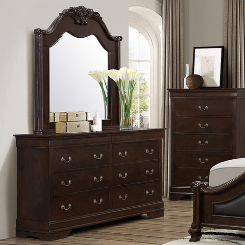 Wildon Home  Cambridge 6 Drawer Dresser with Mirror
