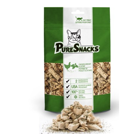PureSnacks Chicken Breast & Catnip Freeze Dried Cat Treats, 1.02 oz