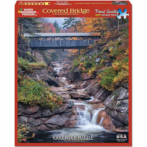 White Mountain Puzzles 1000-Piece Jigsaw Puzzle, Covered Bridge