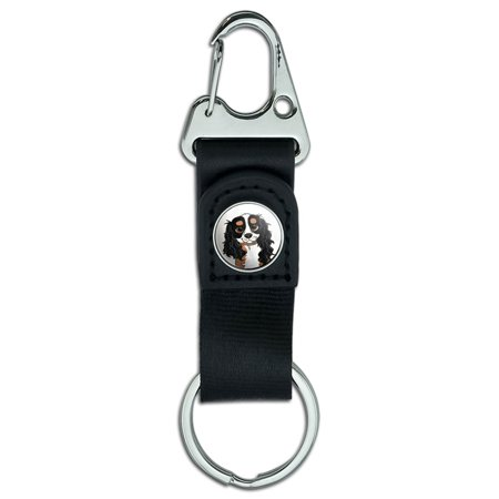 Tri Cavalier King Charles Spaniel - Cavalier King Charles Tri Color Belt Clip Carabiner Keychain