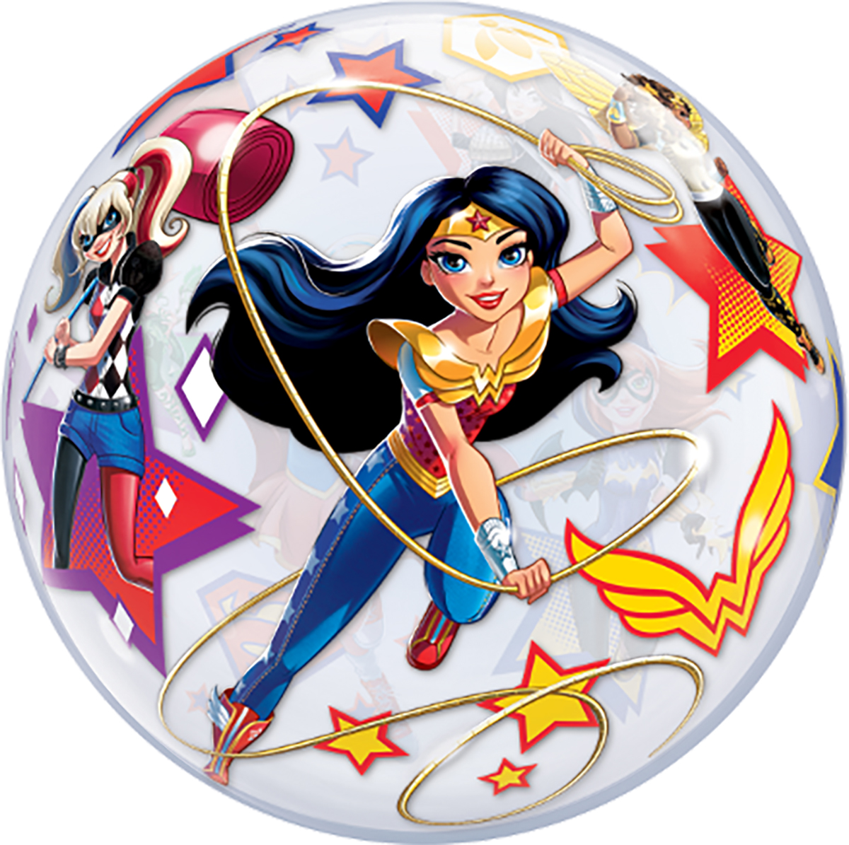 "22""  DC Superhero Girls Bubble Balloon Stretchy Plastic Balloon Party"