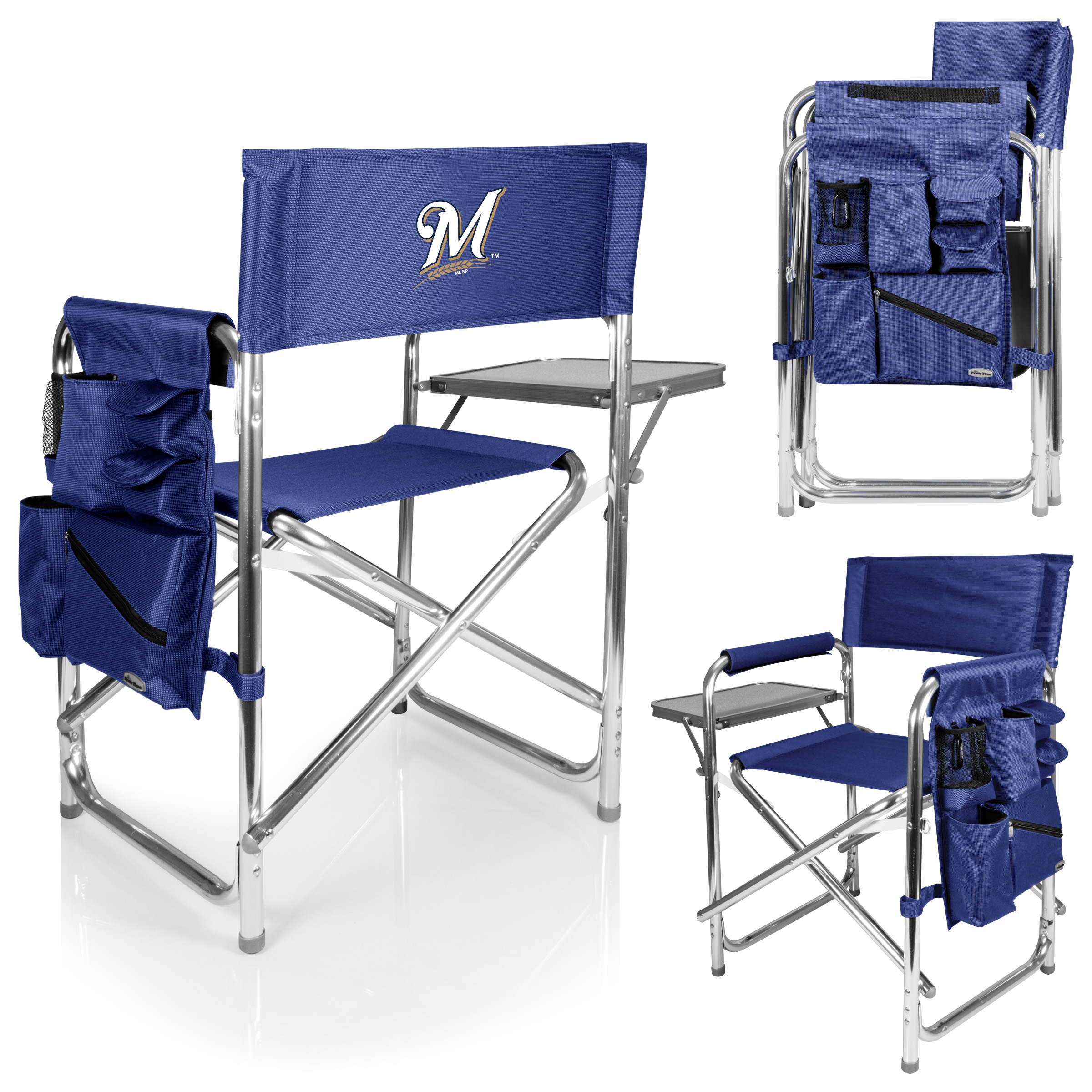 Milwaukee Brewers Sports Chair - Navy - No Size