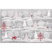 Counter Art Paper Placemats 24-Pack, Christmas Time
