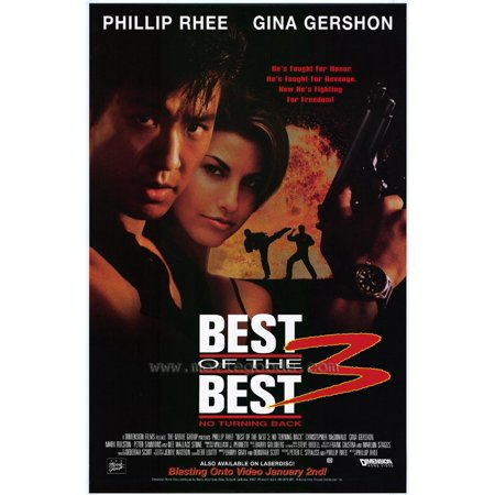 Best of the Best 3 No Turning Back Poster Movie 27 x 40 In - 69cm x 102cm Phillip Rhee Gina Gershon Christopher McDonald Mark Rolston Peter Simmons Dee Wallace (Best Way To Pop Lower Back)