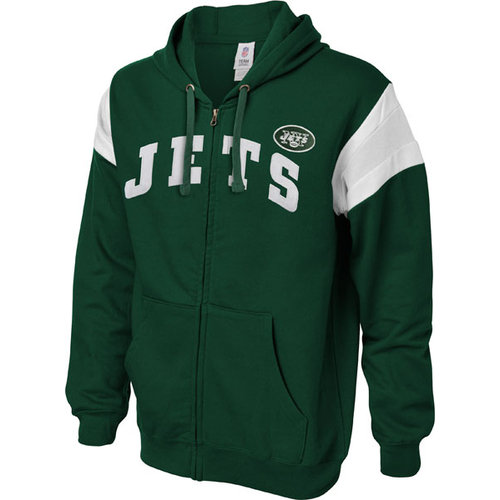 NFL - New York Jets Green Full Speed Break Full Zip Hooded Sweatshirt