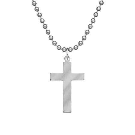Genuine U.S. Military Issue CROSS With Beaded Chain - - Military Cross