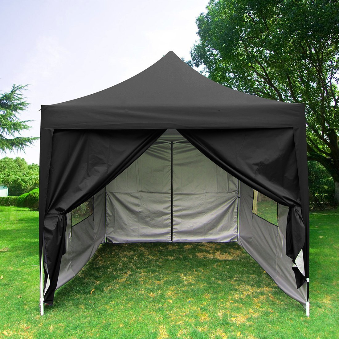 Big Sale!Quictent privacy Pyramid-roofed 8'x8' mesh Curtain EZ Pop Up