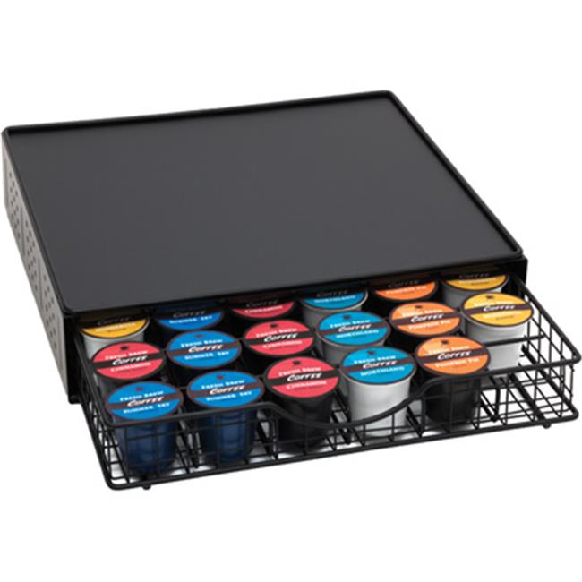 Lipper 8662 Black Coffee Drawer 2Tier Holds Upto 36 Pods With