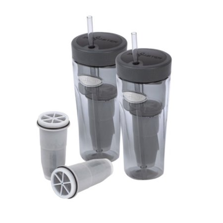 Zerowater Two 26 Ounce Tumblers and a 2-Pack of Tumbler Filters (ZT-M03S)