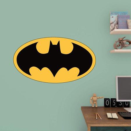 Logo Fathead Basketball - Fathead Batman Logo Junior Wall Decal