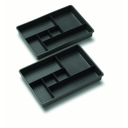Madesmart OPP Two Tray Drawer Organizer, -