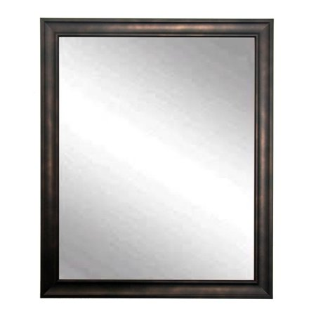 American Made Clouded Bronze Framed Vanity Wall Mirror 25 X 30 In Bm013m