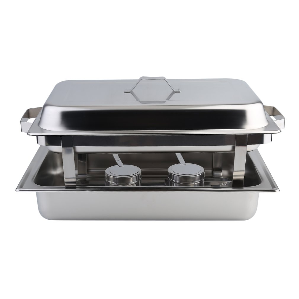6 Pack Catering Chafing Dish Sets Buffet Catering Food Warmer Stainless Steel Kitchen Dining Heater Warming... by