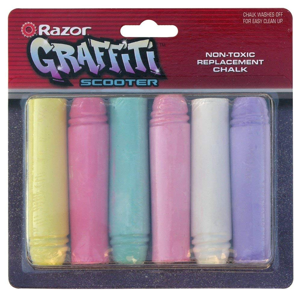 Razor Graffiti Chalk Stick Replacement (Pack of 6)