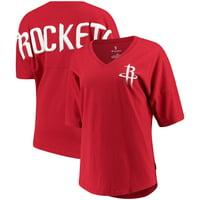 Houston Rockets Fanatics Branded Women's Baseline Spirit Jersey V-Neck T-Shirt - Red