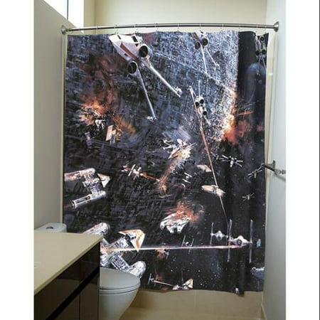 Star Wars Death Fight Scene Shower Curtains