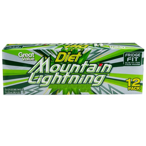 Diet Mountain Lightning, 12 count
