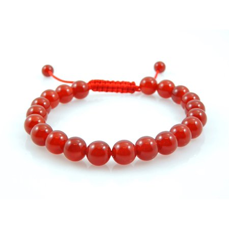 Carnelian Wrist Mala Bracelet Meditation Beaded Healing Gemstone Yoga Energy Chakra Prayer Red Power Adjustable - Prayer Box Bracelet