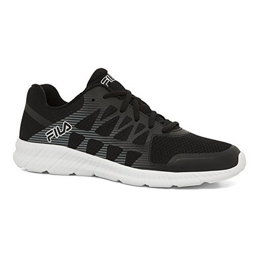 Fila Mens Memory Finity, Black Black Silver, 8 by
