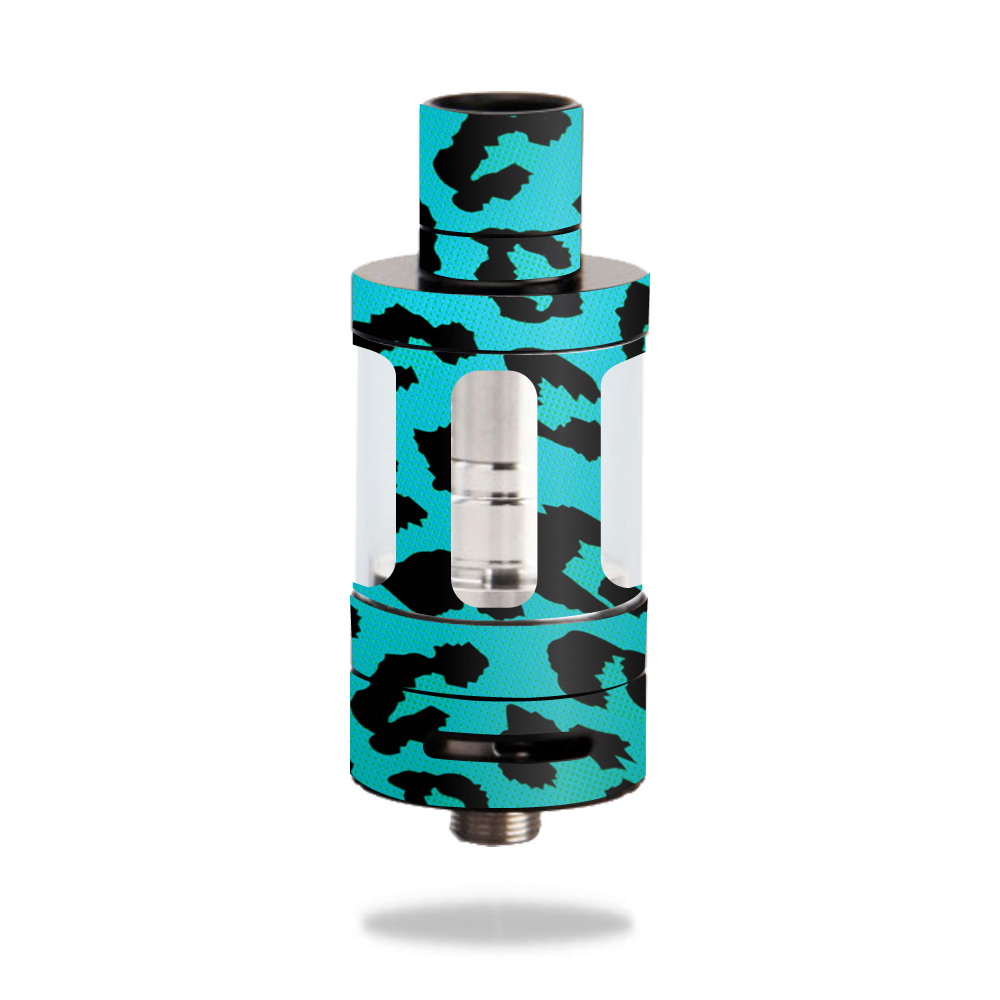 MightySkins Protective Vinyl Skin Decal for Innokin iSub V Tank wrap cover sticker skins Teal Leopard