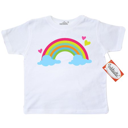 Inktastic Rainbow Toddler T-Shirt Sky Girls Pretty Cute Colorful Hearts Gift Space Astronomy Outer Tees. Child Preschooler Kid Clothing Apparel Hws](Really Pretty Teenage Girls)