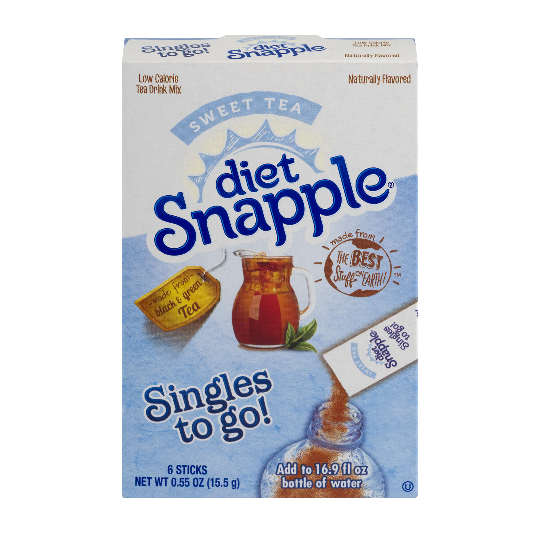 Diet Snapple Drink Mix, Sweet Tea, 6 On the Go Packets