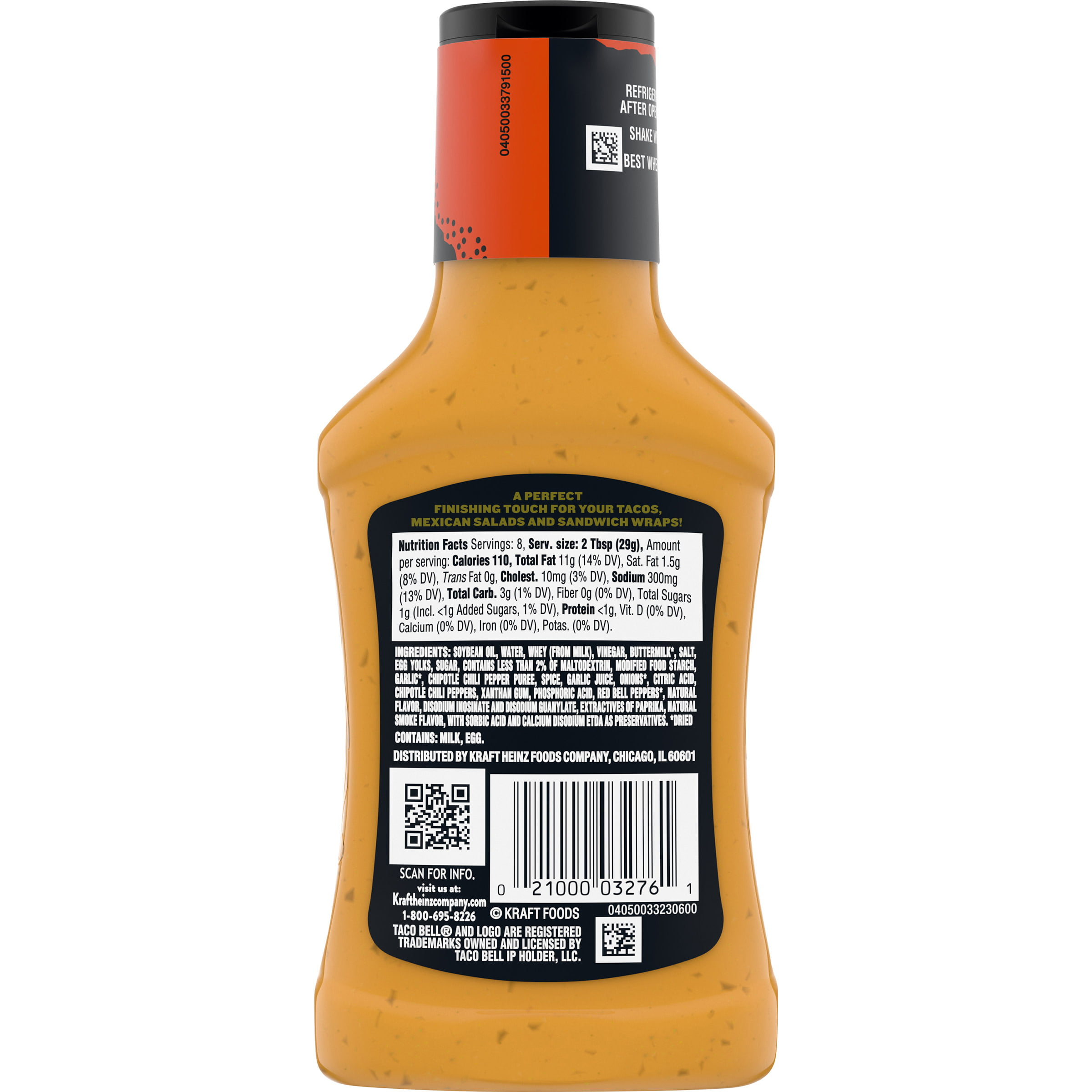 Taco Bell Chipotle Sauce 8 Fl Oz Bottle Walmart Com Walmart Com