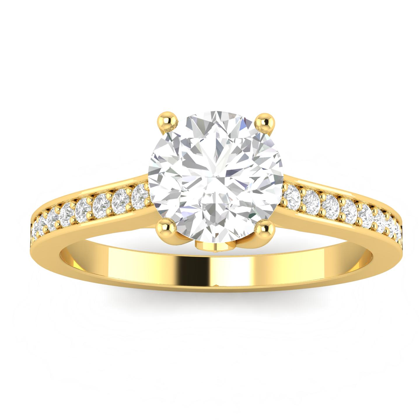 3 4ctw Diamond Engagement Ring in 10k Yellow Gold by Sk Jewel,Inc