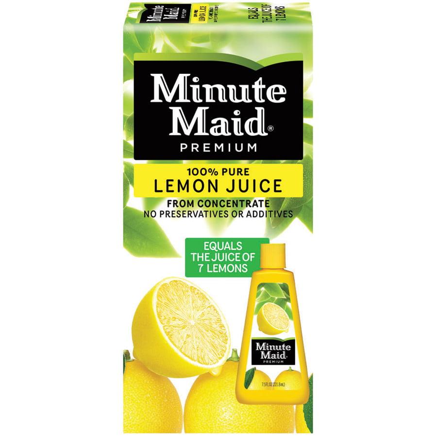 Minute Maid® Premium 100% Pure Lemon Juice From Concentrate 7.5 fl. oz. Bottle