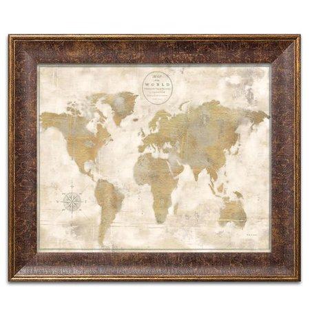 Winston Porter Lovely Rustic World Map 2 Piece Graphic Art Print