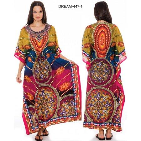 Women's Dashiki  FLORAL  Print Long (52