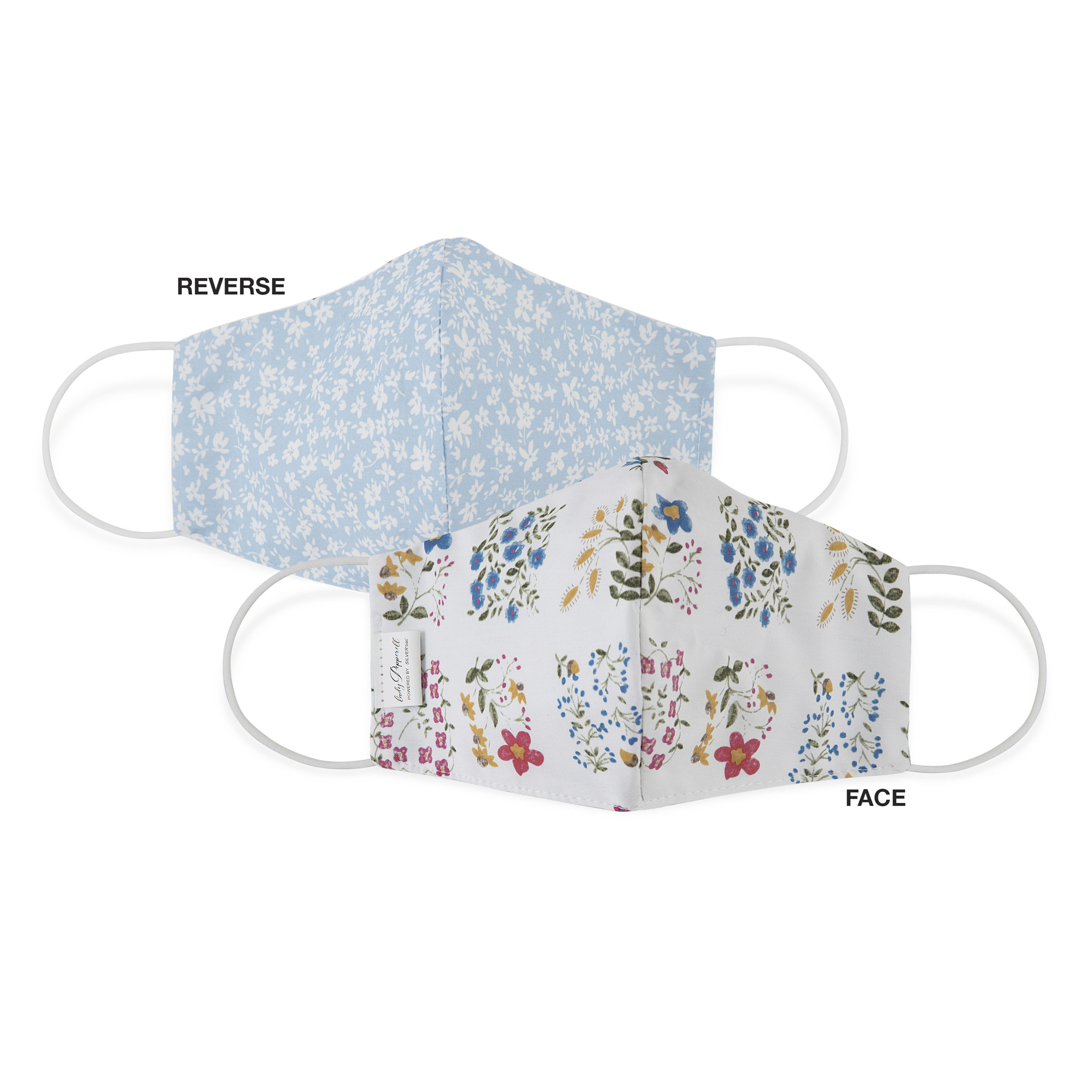 Lady Pepperell Lady Pepperell Reversible Floral Face Mask Oversized Ines Eloise Single Walmart Com Walmart Com