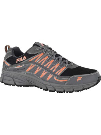 Fila Mens Memory Primeforce Slip Resistant Athletic Shoes 16W Short