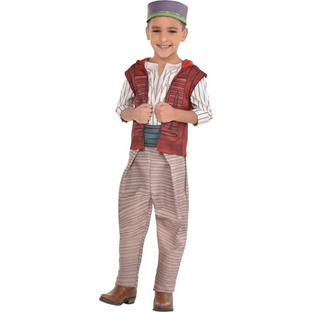 Kids Aladdin Costume (Party City Aladdin Costume for Children, Includes a Shirt, Pants, a Hat, a Belt, and an Attached)