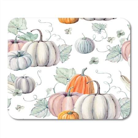 LADDKE Pattern Watercolor Pumpkins It is Thanksgiving Halloween Recipe Fall Harvest Mousepad Mouse Pad Mouse Mat 9x10 inch
