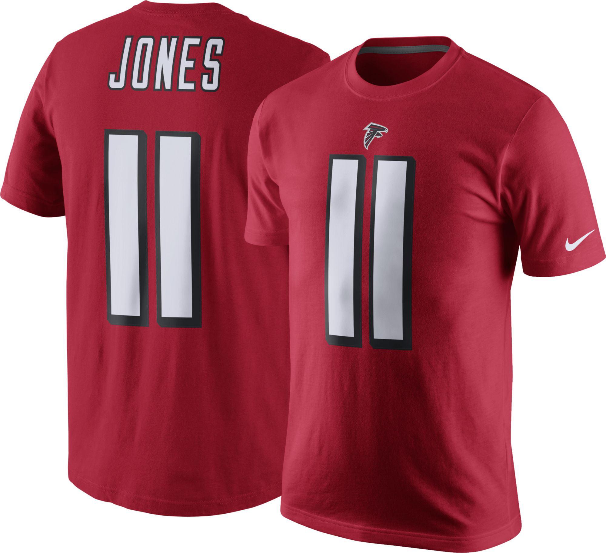 Nike Men's Atlanta Falcons Julio Jones #11 Pride Red T-Shirt