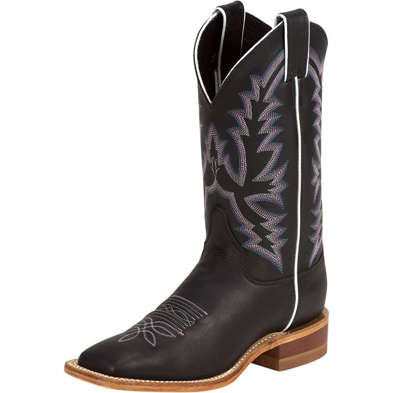 Justin Boot Company Womens  Bent Rail Black Burnished Cal...
