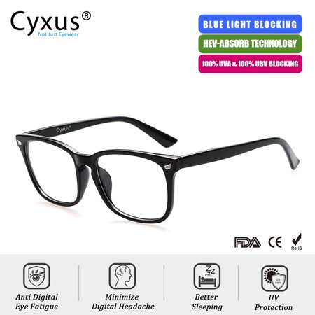 Cyxus Blue Light Blocking Computer Glasses for UV420 Protection Anti Eyestrain Headaches, Black Classic Frame Unisex(Men/Women)