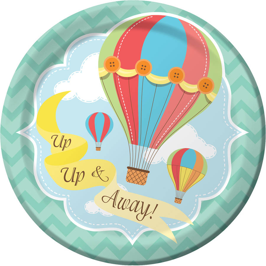 Up, Up and Away Dessert Plates, 8-Pack