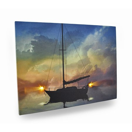 Guiding Light Flickering Light LED Nautical Canvas Print](Flickering Fluorescent Light Halloween)