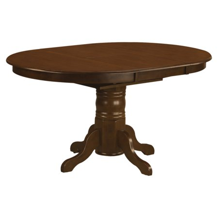 East West Furniture Kenley 42 60 Inch Oval Pedestal Dining Table With Erfly Leaf