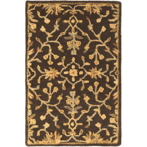 Fleur De Lis Living Casselman Hand Tufted Black Gold Area Rug