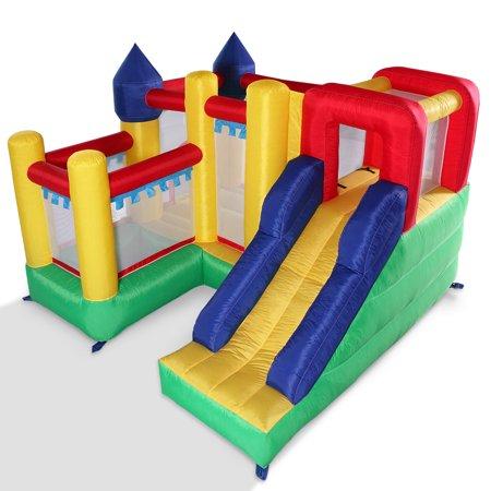 Inflatable Bouncy Horse (Jaxpety Inflatable Bounce House With Slide Bouncer Jumper Bouncer Castle Moonwalk Without)
