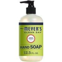 Mrs. Meyer's Clean Day Liquid Hand Soap Bottle, Lemon Verbena Scent, 12.5 fl oz