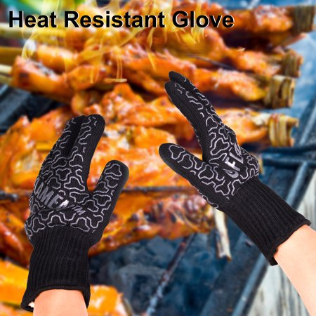 Flamen BBQ Grilling Cooking Gloves Heat Proof Resistant Cooking Kitchen Oven Mitt Glove For 932 ?F 500?C Hot Surface 13