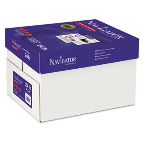 "Navigator Premium Copy & Multipurpose Paper - For Inkjet, Laser Print - Tabloid - 11"" X 17"" - 24 Lb Basis Weight - Smooth - 99 Brightness - 2500 / Carton - Bright White (nmp1724)"