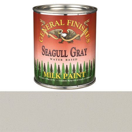 PSGG Milk Paint, 1 pint, Seagull Gray, Milk Paint can be used indoors or out and applied ot furniture, crafts and cabinets By General Finishes From