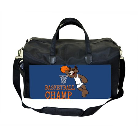 Basketball Champ Large Black Duffel Style Diaper Baby Bag