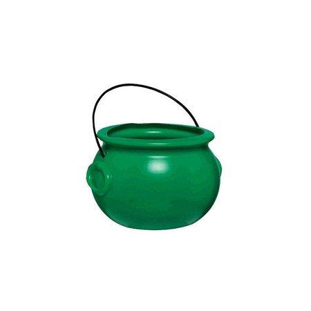 Amscan Lucky Saint Patrick's Day Green Pot Of Gold Party Favor, Green, 8